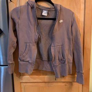 Nike zip up hooded sweatshirt